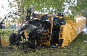 Just under 900 school buses were involved in crashes last year. The Rockford school bus above was involved in one a couple of weeks ago when a motorist ran a stop sign. Luckily no children were on board.