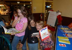 Kids had a great time at the spaghetti fundraiser with author Amanda Litz, face painting, and free ice cream.