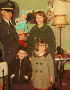 2nd Lt. Jack Price with wife, Darlene, and children, Dawn, Jack Jr. and Jeff.