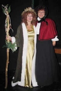 Laura Johnson and Chris Bigney from A Christmas Carol.