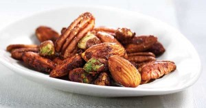 Spicy Maple Walnuts, Almonds, Pecans and Pistachios