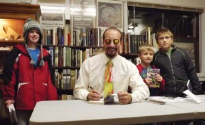 Johnathan Rand was a big hit at Bay Leaf Books Tuesday.