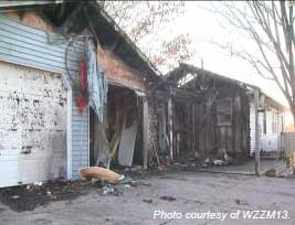 This Sand Lake area home caught fire Christmas day.