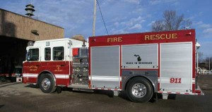 Sand Lake has a new fire engine thanks to a program overseen by the Kent County Fire Commission. Post photos by J. Reed.