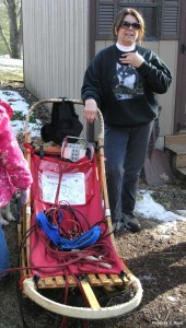 Ann Nelson, of Howard City, talked about her life-long passion for mushing, the care of her 16 Siberian Huskies, the hand-crafted dog sleds that she and her husband, Ted, design and sell, and why the absence of typical Michigan winter is a huge disappointment this year.