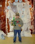 Overall winner in the Pinewood derby was Corey Dymerski, who also won the 8-10 yr old category.