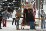 JOHN ON THE RUN-Outhouse races were a fun part of Winterfest in Sand Lake last weekend.