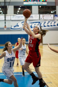 Tiffany Karger goes up for the shot.