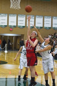 Tiffany Karger led in scoring for the Red Hawks last week, getting 21 points against West Catholic, and 19 against Tri County.