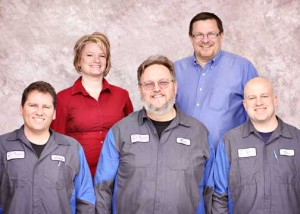 The Collision Center on 14 Mile is now part of the Ed Koehn Chevrolet dealership team. Staff members pictured are: front row (L to R) Lenny Wentz, Rick Palm, Eric Montgomery; back row, Heather Odren and Jack Price.
