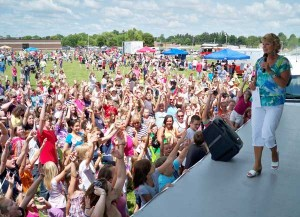 Maranda onstage at the Park Party here in Cedar Springs in 2010. Photo courtesy of WoodTV