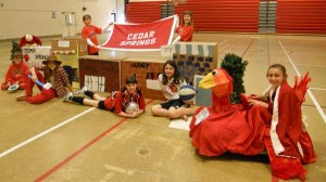 Cedar View Elementary Odyssey of the Mind Team is made up of 4th graders Henry Matthew and Blayke Darling and 5th graders Katia Corwin, Ryllie Rivard, Taylor Warner, Sarah Martin and Rebecca Yaklin. Coaches are Jennifer Rivard, Kathy Corwin, Jill Matthew and Angel Martin.
