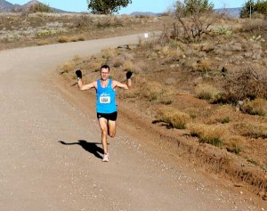 Master runner Hank Risley during the Sedona Marathon.