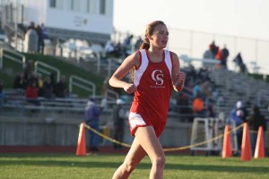 Maddie Pekrul in 3200m run.