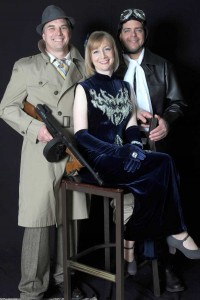 "Brian Thomas, Tracy Strome and PJ Bevelacqua, characters in the Play ""The Ragweed Blues."""