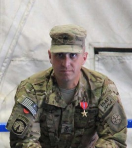 First Sergeant Michael J. Poll II US Army 236th ICTC was awarded the Bronze Star Medal for service in Afghanistan 2011-2012.