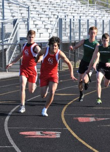 Sean Thompson and Ilan Cabarello in the 400m relay