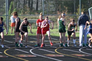 Aly Hamilton in the 100-meter dash