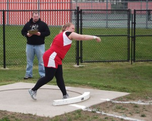 Jeanette Sukstas in shotput