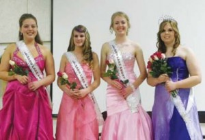 Miss Sand Lake and Court (L to R): Court members Shana Shquair, Tonya Rivard and Natasha Azur, and Queen Kristina Nozal.