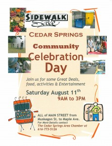 Community celebration flyer