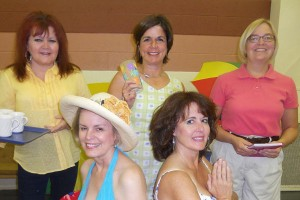 "The ""Dixie Gals"" in the photo are: Top L to R: Randi Richardson plays Vernadette; Joan Snyder plays Dinah; Shannon Rop plays Sheree. Seated L to R: Kate Cragwell plays Lexie; Laura Johnson plays Jeri Neal."