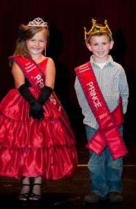 Pictured are last year's prince and princess: Prince Diego Caballero and Princess Penelope Belk.