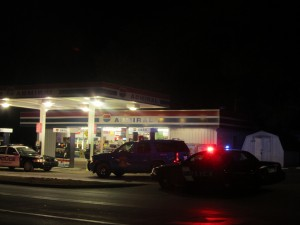 The Admiral gas station was robbed Tuesday evening by a white, middle-aged male. Post photo by J. Reed.