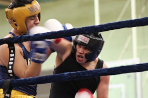 Leonardo Rios claims a victory over Giovanni Miranda, of Grand Rapids.