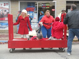 Deb Cole sent us this photo of the bed races. She said she thought it showed the sprit of the day. Thanks, Deb.