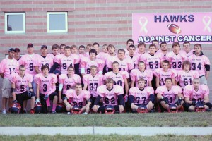 "The Cedar Springs Red Hawks became the Pink Hawks for their first ever ""pink game"" last Friday."