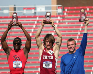 Justin Balczak (pictured far right) earned the title of All-American
