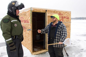 Ice fishing is a popular tradition for many Michigan residents, and taking precautions to keep safe is an important part of that tradition. Department of Natural Resources conservation officers routinely patrol the ice to check in with anglers.