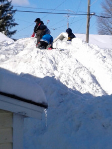 Kids had a blast on this snow pile. Photo submitted by Lorrie Shelton.