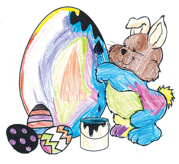 easter coloring contest 2013 cedar springs post newspaper Coloring Contest Flyer  Coloring Contest Age Groups