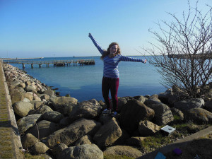 Megan Grattan at the Baltic Sea in Copenhagen during a recent school field trip in Denmark.