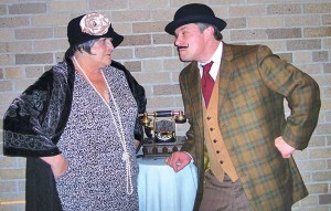 "Linda Oosdyke and Brian Thomas in ""Sherlock Holmes,""  showing April 25-27 at The Kent Theatre in Cedar Springs."