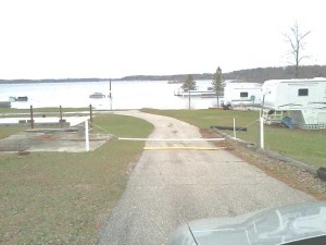 Chris Lange sent us this photo of a flooded trailer park in Spencer Township