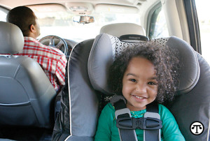 Protect your precious cargo: Be sure your child's car seat is properly installed and remember to use it every ride.