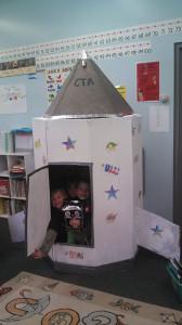 Kindergarten spaceship