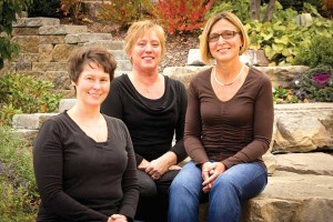 Northern Physical Therapy's Cathy DeBerti (left) is a Physical Therapist Assistant with over 25 years of experience, Cindy Heethuis (center) is a Patient Care Specialist, and Julie Blodgett (right) is a Physical Therapist with over 25 years of experience.