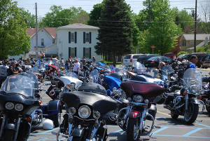 Two hundred-plus motorcycles took part in the memorial ride last Saturday. Photo courtesy of Pam Bradfield