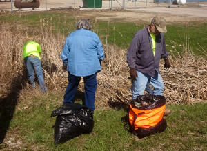 The annual Cedar Creek Clean up helped rid the area of debris. Photo courtesy of Craig Owens.