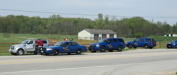 One man was arrested after leading police on a high speed chase.
