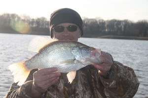 Jack Payne with a large crappie caught on an action tail.
