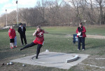 Jeanette Sukstas took first in the shotput.