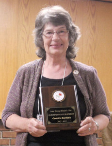 The Cedar Springs 2013 Woman of the Year award was presented to Caroline Bartlette
