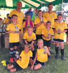 Tri County AYSO U10 girls took third place in the AYSO section 8 state soccer tournament. Back row: Natalie Martz, Jayden Marovich, Abigail Jason, Kaela Bucholtz, middle Ashley Myers and May Shephard. Front row: Lauren Lett and Teagan Gulan.