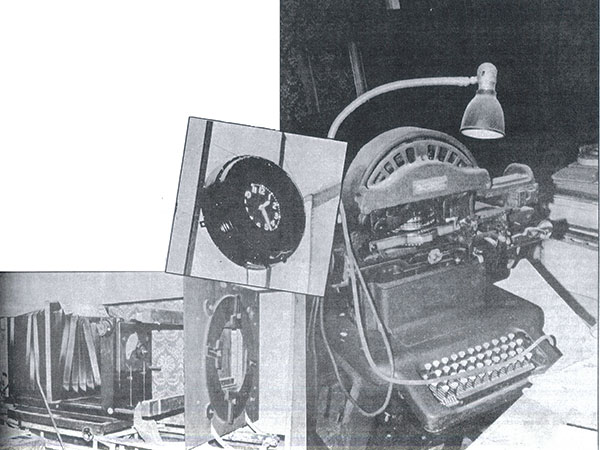 Treasures that were found in the Kent Theatre. The clock pictured above once operated while movies were being shown at the Kent Theatre.