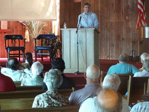 Rep. Justin Amash answered questions from constituents at the Cedar Springs town hall meeting last week. Courtesy photo.